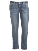 Side Zip Ankle Jean
