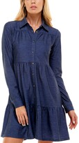 Thumbnail for your product : Ultra Flirt Juniors' Denim Fit & Flare Dress