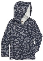 Tea Collection Boy's Sail Away Happy Hooded Pullover