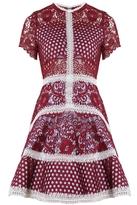 Alexis Rustikan Dress Burgundy Mosaic