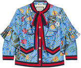 Gucci New flora silk jacket - women - Silk - 36