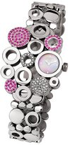 Swiss Diamond Swisstek SK17749L Limited Edition Watch With Pink Sapphires, Mother-Of-Pearl Dial And Sapphire Crystal