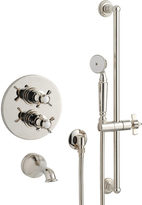 Rejuvenation Rollins Thermostatic Tub Shower Set With Handheld