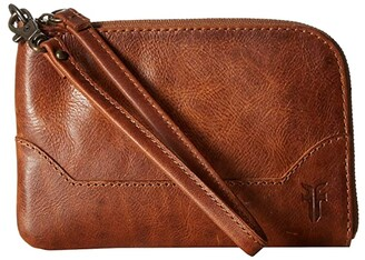Frye Melissa Wristlet (Cognac Antique Pull Up) Wristlet Handbags