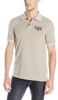 G Star Men's Hav Shortsleeve Polo Shirt In Piqe Overdye