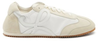 Loewe Ballet Runner Leather And Suede Trainers - White
