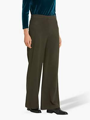 Helen McAlinden Olivia Wool Blend Wide Leg Trousers, Bronze