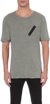 Replay Zip Patch Cotton T-shirt