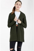 Select Fashion Fashion Womens Green Rib Fashion Cardigan - size 6