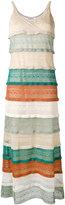 Jucca glittery layered maxi dress - women - Polyester/Acetate/Viscose/Metallized Polyester - S