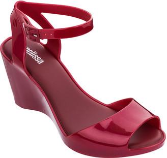 PeepToe Melissa Shoes Blanca Peep-Toe Wedge Sandals