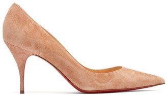 Christian Louboutin Clare 80 Suede Pumps - Nude