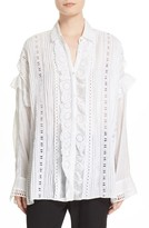 The Kooples Women's Cotton Eyelet Oversize Shirt