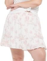 So Juniors' Plus Size SO Teired Skate Mini Skirt
