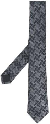 Versace Greca-embroidered tie