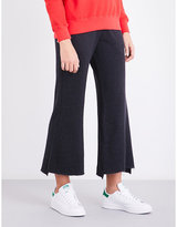 Sundry Flared cotton-blend jogging bottoms