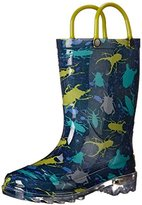 Western Chief Kids' Bug Splatter Lighted Rain Pull-On Boot