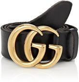 Gucci Men's GG Buckle Leather Belt-BLACK