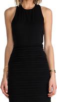 Alice + Olivia Elaina T Back Zip Dress With Leather