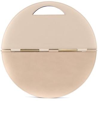 Calicanto Circular Foldover Leather Clutch Bag