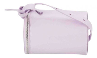 Building Block Purple Leather Handbags