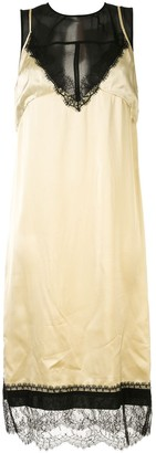 No.21 Layered Satin Slip Dress