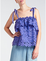 Somerset by Alice Temperley Tie Shoulder Lace Cami