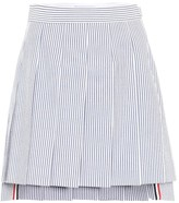Thom Browne Striped high-rise cotton skirt