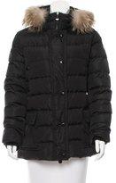 Moncler Mer Fur-Trimmed Coat