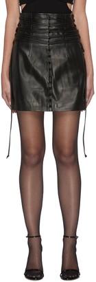 16Arlington 'KALMIA' Lace Detail Button Front Mini Skirt