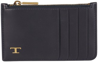 Tod's Tods Blue Leather Cardholder