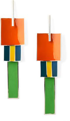 Ralph Lauren Silver Pendulum Earrings