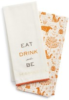 Levtex Be Thankful Set Of 2 Dish Towels