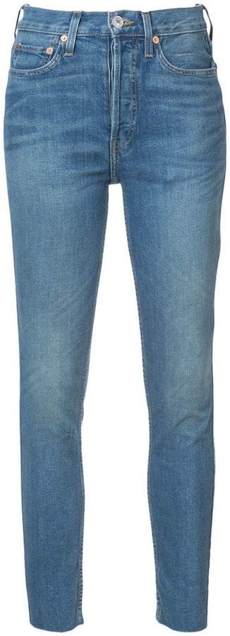 RE/DONE stonewashed skinny jeans