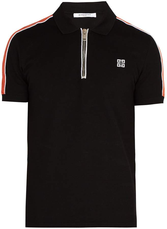 Givenchy Cuban-fit half-zip cotton-piqué polo shirt
