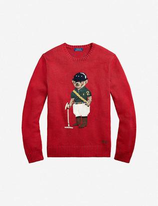 Polo Ralph Lauren Polo Bear-embroidered crewneck wool jumper