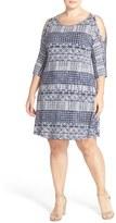 Tart Plus Size Women's 'Naya' Cold Shoulder A-Line Dress