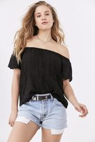 Angie Embroidered Off-The-Shoulder Top