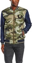 True Religion Green Collegiate Camo Denim Mens Jacket, Size XXXL, $399