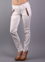 Barbara Bui Pant with Leather Detail