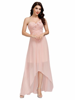 Ever Pretty Ever-Pretty Women's Sleeveless High-Low Empire Waist Chiffon Elegant Maxi Evening Dresses Pink 10UK