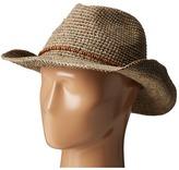 Hat Attack Raffia Crochet Small Cowgirl Caps