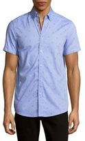 Report Collection Regular-Fit Anchor-Print Cotton Sportshirt
