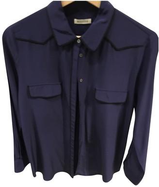 Masscob Blue Silk Top for Women