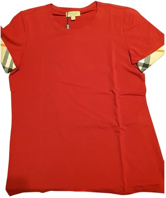Burberry Red Cotton Top for Women