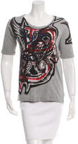 Balmain Graffiti Scoop Neck T-Shirt