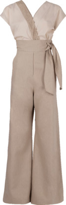 Brunello Cucinelli Surplice Embroidered Jumpsuit