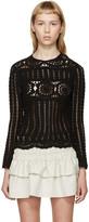 Etoile Isabel Marant Black Crocheted Heloise Top