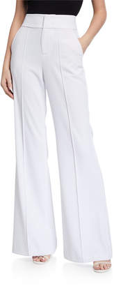 Alice + Olivia Dawn High Waist Front Pintucked Flared Pants