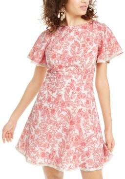 B. Darlin Juniors' Floral A-Line Dress